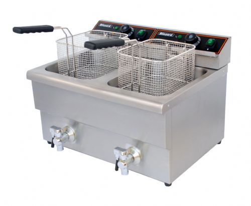 Blizzard Catering Twin Tank Electric Fryer BF8+8